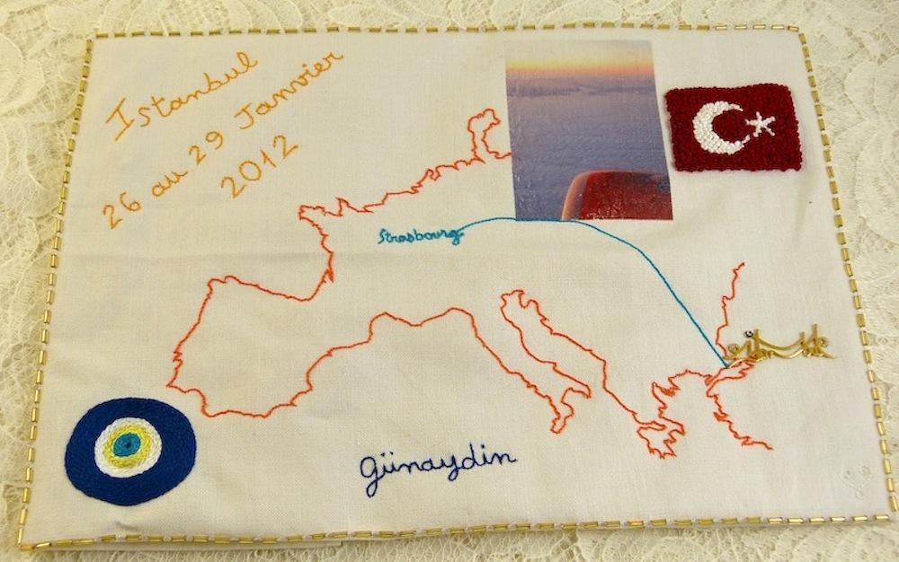 Extrêmement carnet de voyage brodé – broderieplaisir.eu WA16