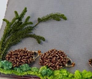cannetille, chenilles et fleurs naturelles